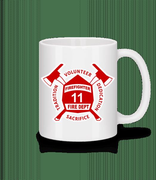 Firefighter Fire Dept - Mug - White - Front