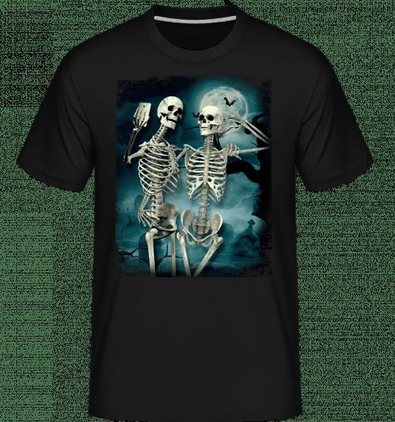 Skeleton Selfie -  Shirtinator Men's T-Shirt - Black - Vorn