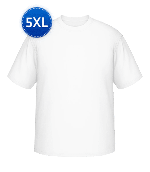 Round-T from XL to 5XL - White - Vorn