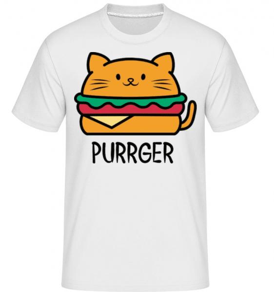 Purrger -  Shirtinator Men's T-Shirt - White - Front