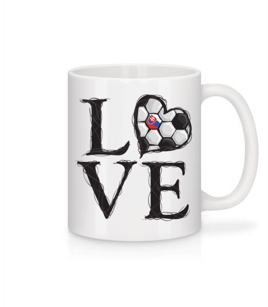 Football Love Slovakia - Mug - White - Vorn