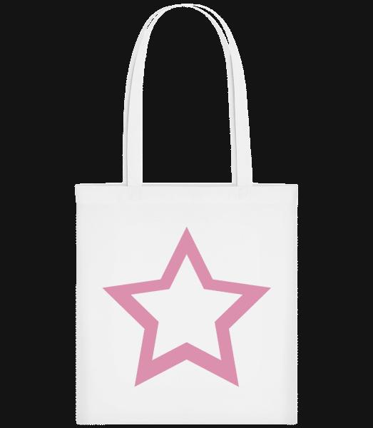 Star Icon Pink - Stoffbeutel - Weiß - Vorn