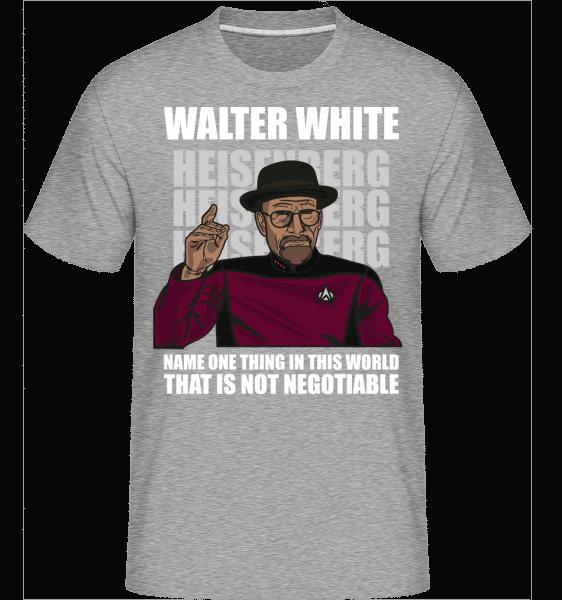 Captain Picard Heisenberg -  Shirtinator Men's T-Shirt - Heather grey - Vorn
