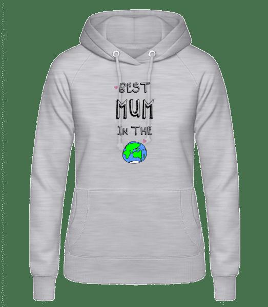 Worlds Best Mum - Frauen Hoodie - Grau meliert - Vorn