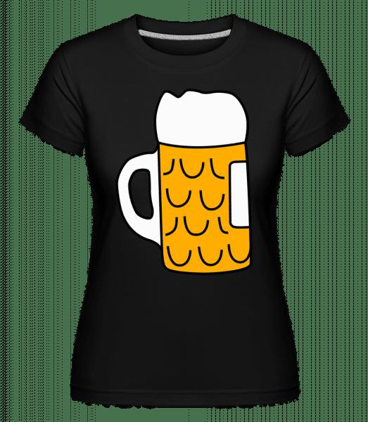 Bier - Shirtinator Frauen T-Shirt - Schwarz - Vorn
