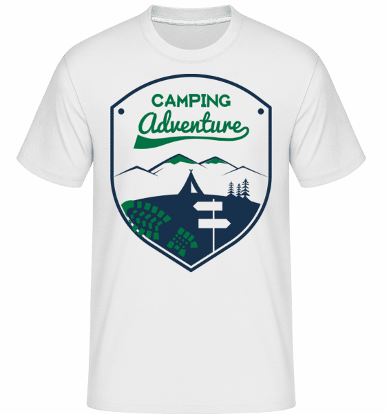 Camping Adventure Icon -  Shirtinator Men's T-Shirt - White - Front