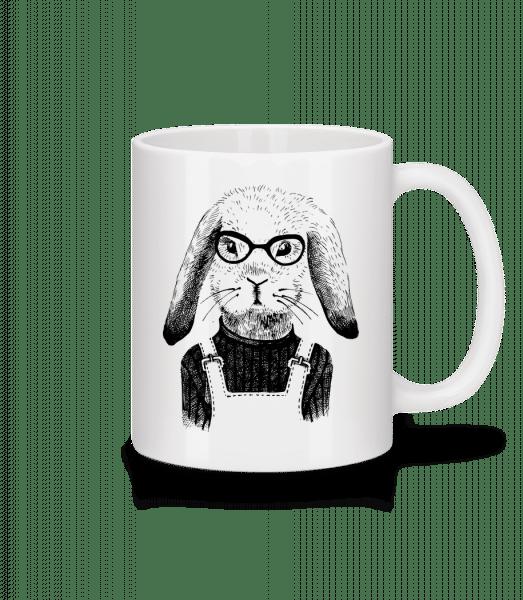 Hipster Rabbit - Mug - White - Front