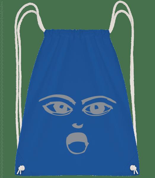 Wondering Face Symbol Grey - Drawstring Backpack - Royal blue - Vorn