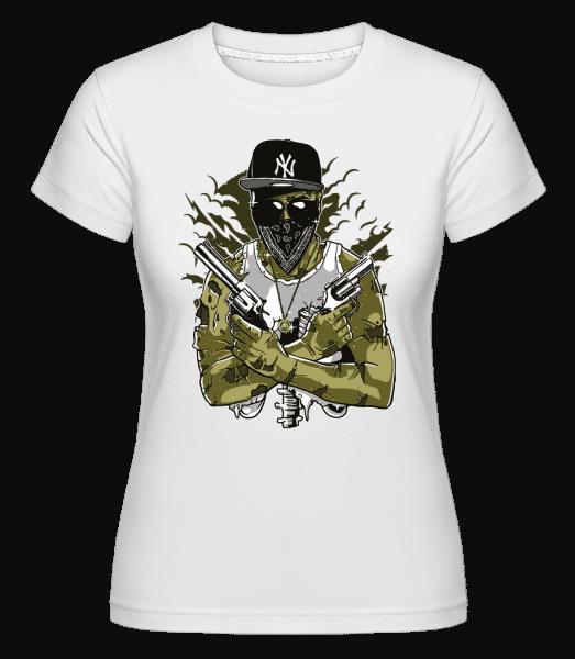 Gangsta Zombie -  Shirtinator Women's T-Shirt - White - Vorn