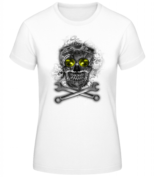 Crâne De Machine - T-shirt standard femme - Blanc - Vorn