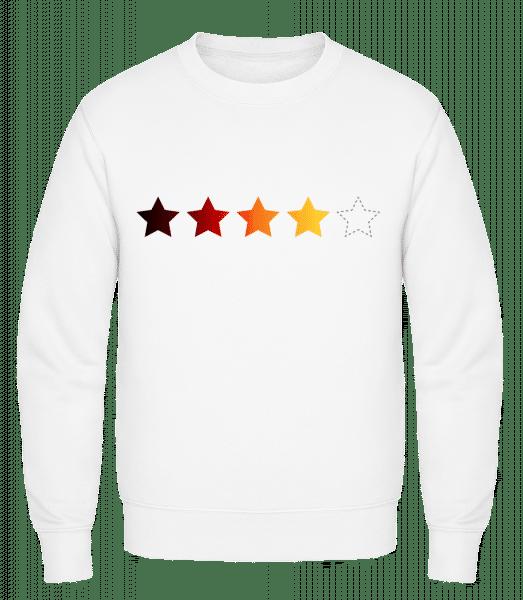 Deutschland 5 Sterne - Männer Pullover - Weiß - Vorn