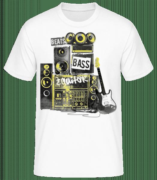 Beat Bass And Guitar - Men's Basic T-Shirt - White - Front