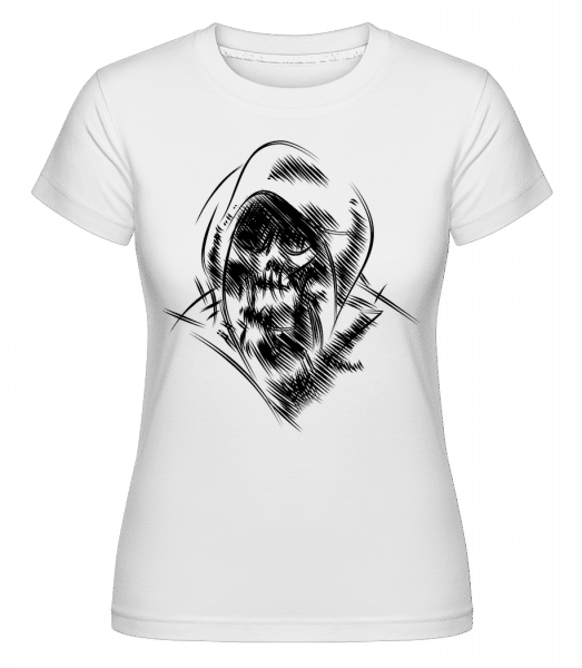 Gothic Skull -  Shirtinator Women's T-Shirt - White - Vorn