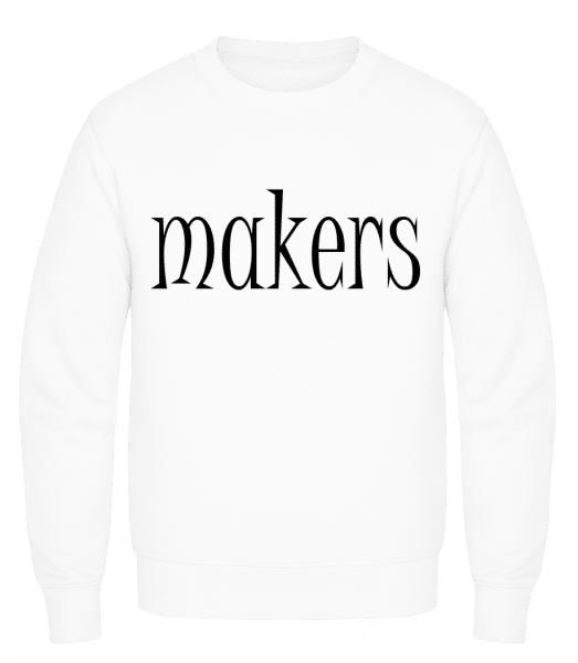 Trouble Makers Partner - Men's Sweatshirt AWDis - White - Vorn