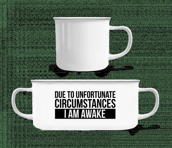 I Am Awake - Enamel-cup - White - Vorn