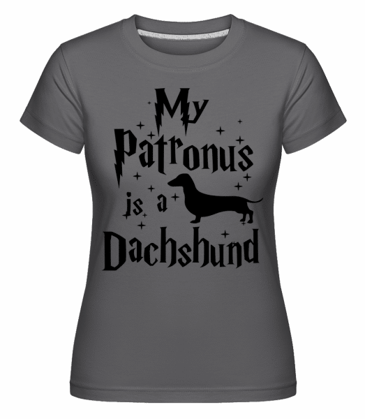 My Patronus Is A Dachshund -  Shirtinator Women's T-Shirt - Anthracite - Vorn
