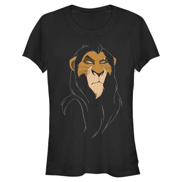 Big Face Scar - Disney The Lion King - Women's T-Shirt - Black - Front