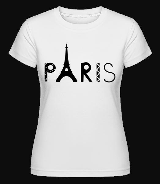 Paris France -  Shirtinator Women's T-Shirt - White - Vorn