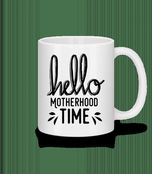 Hello Time Materstvo - Keramický hrnček - Biela - Predné