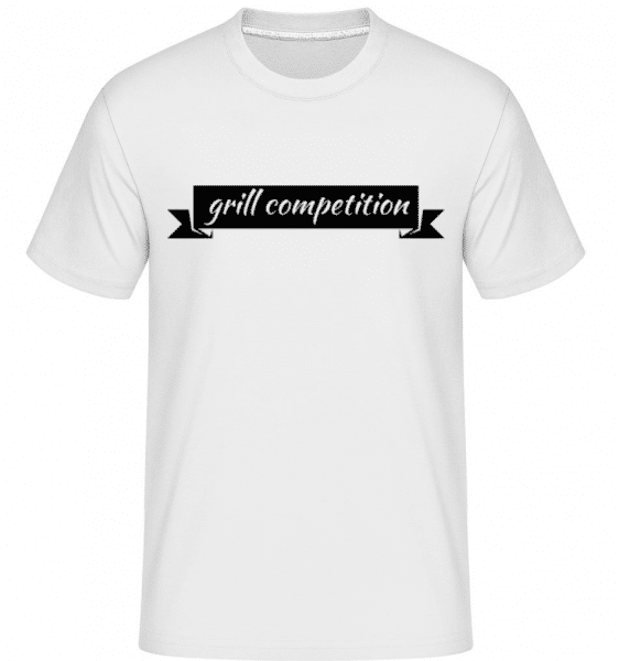 Grill Competition Sign -  Shirtinator Men's T-Shirt - White - Front
