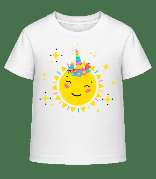 Happy Sun - Kid's Shirtinator T-Shirt - White - Vorn