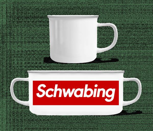 Schwabing - Emaille-Tasse - Weiß - Vorn