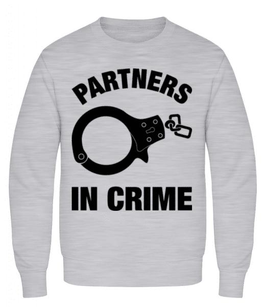 Partner in crime - Men's Sweatshirt - Heather grey - Front