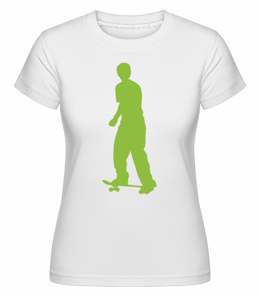 Skater Push -  Shirtinator Women's T-Shirt - White - Front
