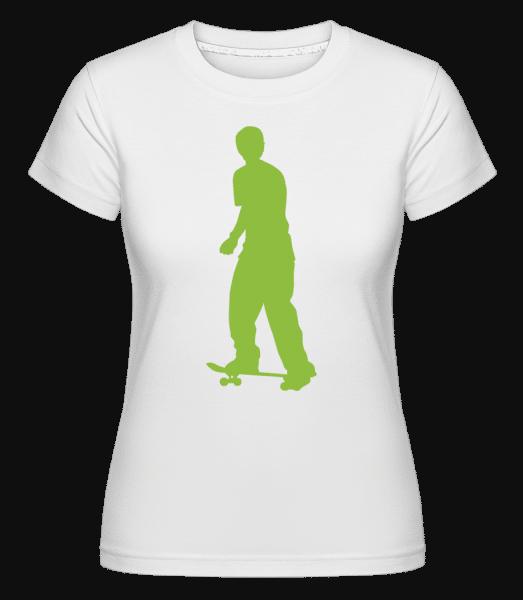 Skateur Push -  T-shirt Shirtinator femme - Blanc - Vorn