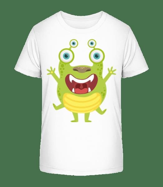 Alien Frog - Kid's Premium Bio T-Shirt - White - Vorn