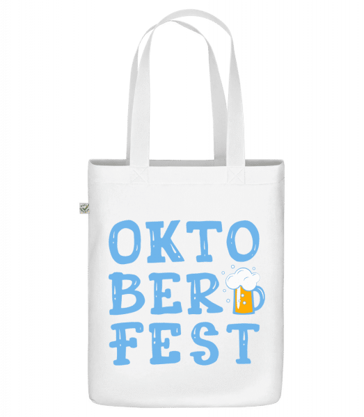 "Oktoberfest - Organic ""Earth Positive"" tote bag - White - Vorn"