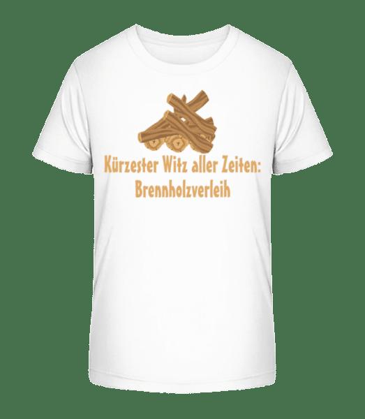 Brennholzverleih - Kinder Premium Bio T-Shirt - Weiß - Vorn