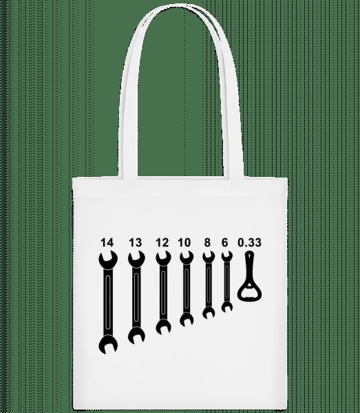 Werkzeug Bieröffner - Stoffbeutel - Weiß - Vorn