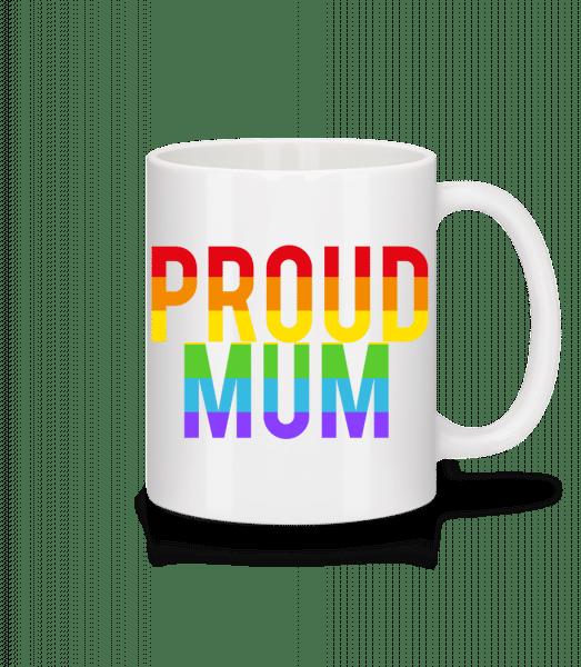 Proud Mum Rainbow - Mug - White - Vorn