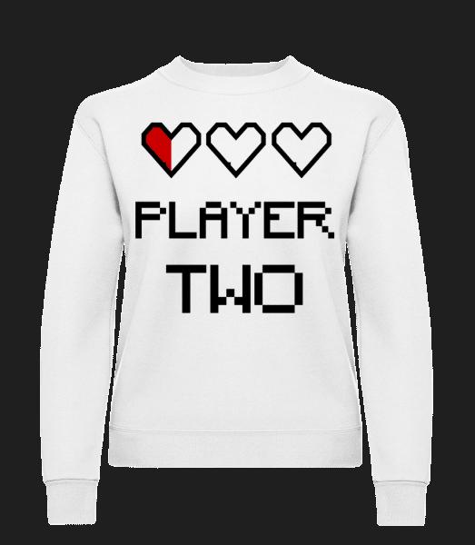 Player Two - Women's Sweatshirt - White - Vorn