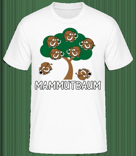 Mammutbaum - Männer Basic T-Shirt - Weiß - Vorn
