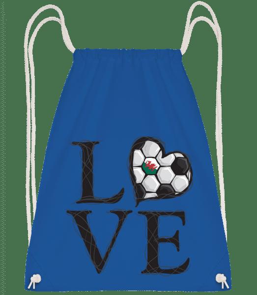 Love Football Wales - Drawstring Backpack - Royal blue - Vorn