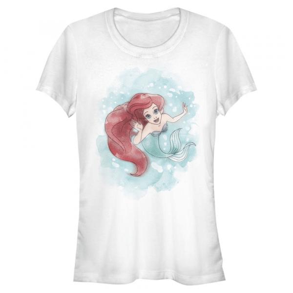 Sea Colors Ariel - Disney The Little Mermaid - Women's T-Shirt - White - Front