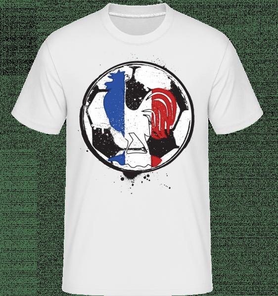 Football France -  Shirtinator Men's T-Shirt - White - Vorn