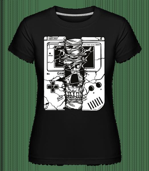 Gameboy Skull -  Shirtinator Women's T-Shirt - Black - Front