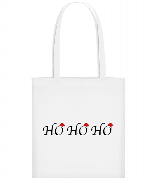 Ho Ho Ho - Carrier Bag - White - Vorn