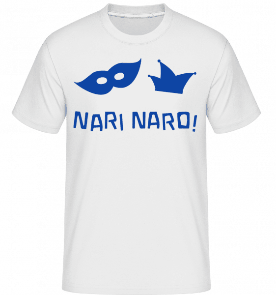 Nari Naro! Blue -  Shirtinator Men's T-Shirt - White - Front