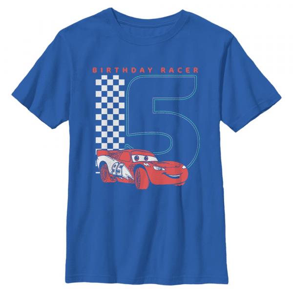 Birthday Racer Group Shot - Pixar Cars 2 - Kids T-Shirt - Royal blue - Front