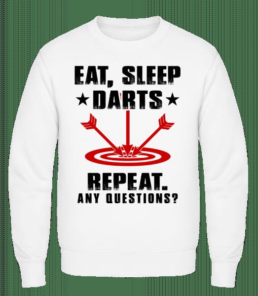 Eat Sleep Darts Repeat - Männer Pullover - Weiß - Vorn