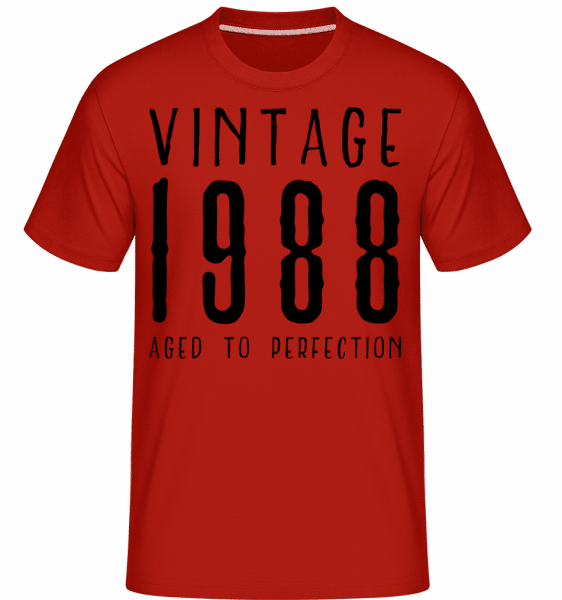 Vintage 1988 Aged To Perfection -  Shirtinator Men's T-Shirt - Red - Vorn