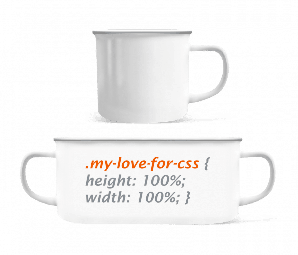 My Love For CSS - Enamel-cup - White - Vorn