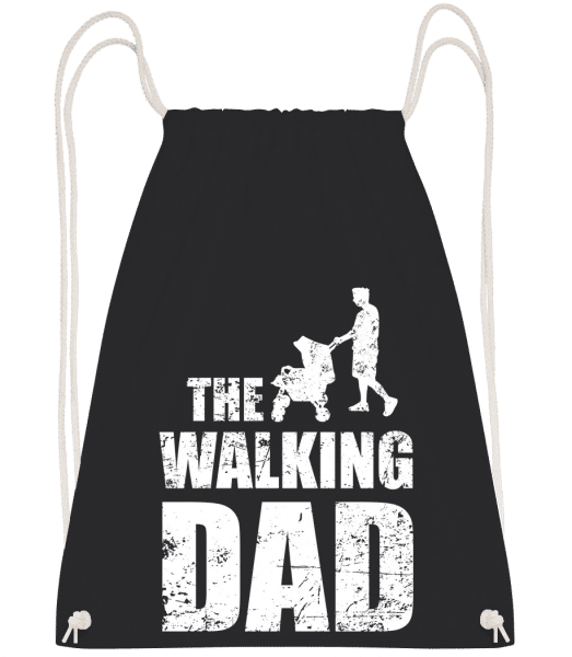 The Walking Dad - Turnbeutel - Schwarz - Vorn
