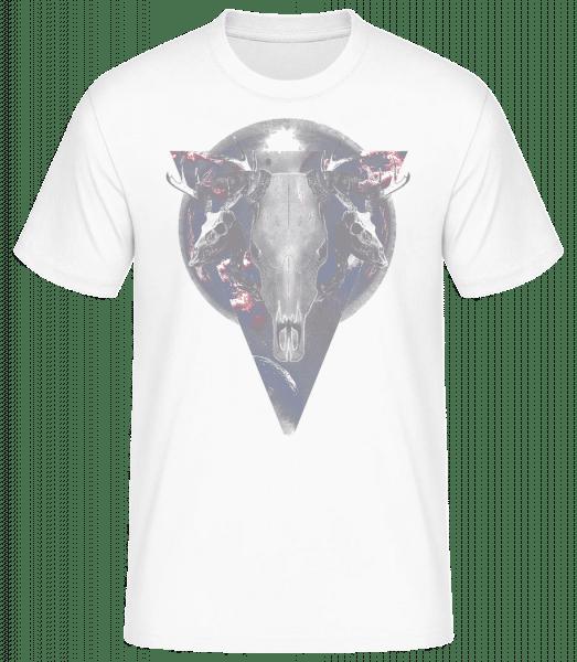 Büffel Totenkopf - Basic T-Shirt - Bílá - Napřed