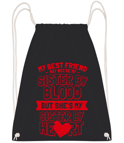 My Sister By Heart - Drawstring Backpack - Black - Vorn