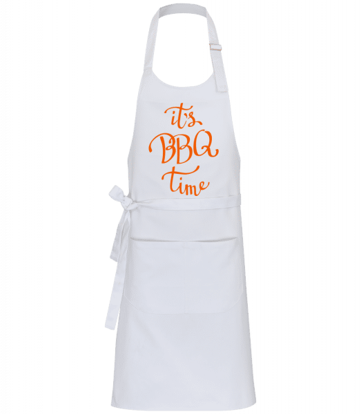 It's BBQ Time Orange - Professional Apron - White - Vorn